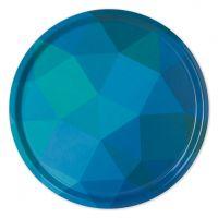 Prismatic Non-Slip Tray, Blue/Green - One Dozen