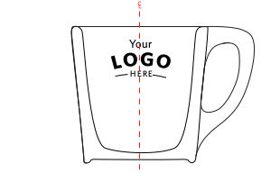 CUSTOM LOGO CUPS. LOGO PLACEMENT 3